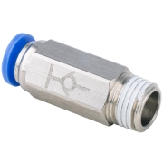 SVPC 08-02 | 8mm Tubing OD to R, BSPT 1/4 Thread Male Straight Stop Valve