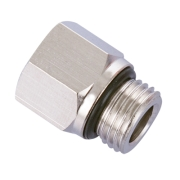 SCMF M10-N01 | M10 Male to 1/8 NPT Female Adapter Brass Pipe Fitting
