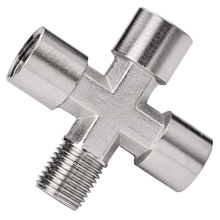 SZMF Male to Female Pipe Cross Brass Pipe Fittings
