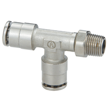 Brass Push to Connect Fittings Male Run Tee