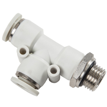 G, BSP, BSPP Thread White Push in Fittings with O-ring Male Run Tee Swivel