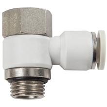 G, BSP, BSPP Thread White Push in Fittings with O-ring Female Banjo Elbow