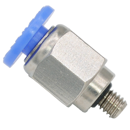 Male Connector Push to Connect Fitting  mm Tube O.D X M4 Thread