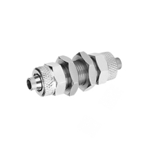 Bulkhead Union Nickel Plated Brass Rapid Fittings