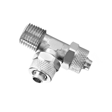 Male Run Tee Nickel Plated Brass Rapid Fittings