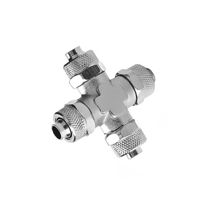 Union Cross Nickel Plated Brass Rapid Fittings
