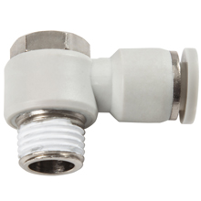 White Push in Fittings Male Banjo Elbow