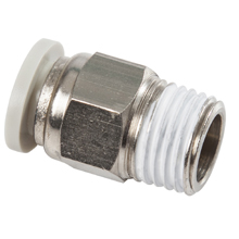 White Push in Fittings Male Straight Connector