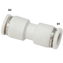 White Push in Fittings Straight Union Reducer
