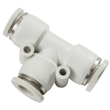 White Push in Fittings Equal Union Tee