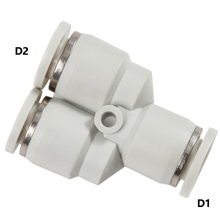 White Push in Fittings Unequal Union Y Reducer