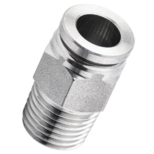 NPT Thread Stainless Steel Push to Connect Fittings Male Straight Connector