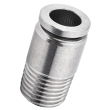 Stainless Steel Hexagon Socket Head Male Straight Connector